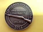 2014 Daisy Airgun Museum Medallion