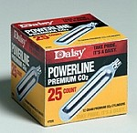 PowerLine CO2 Cylinders - 25 count