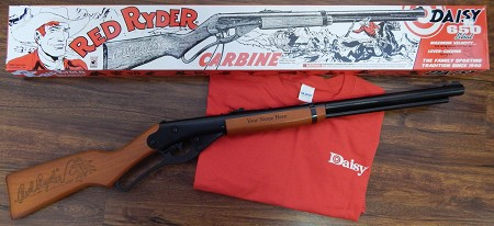 Personalized Daisy Red Ryder with Red Daisy T-Shirt
