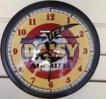It's A Daisy Clock (yellow black and red)